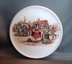 English Ware, Lancaster's, Hanley England, Ye Olden Days Trivet Plate - $3.99