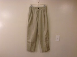 L.L.Bean Ladies Khaki Gray Casual High Waist, NO Size Tag (see measurements)