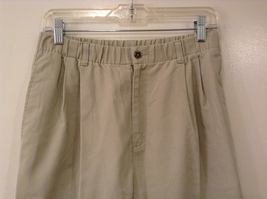 L.L.Bean Ladies Khaki Gray Casual High Waist, NO Size Tag (see measurements) image 3