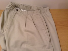 L.L.Bean Ladies Khaki Gray Casual High Waist, NO Size Tag (see measurements) image 7