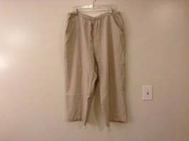 Alfred Dunner Woman Natural Linen Blend Casual Pants size 22W