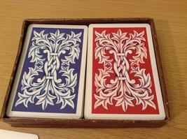 Vintage Delux KEM Playing Cards Double Deck Red and Blue in Original Box