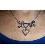 Love heart necklace - $15.00