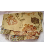 Creamy Light Gold Hydrangea Upholstery Cotton F... - $14.99
