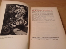 Vintage The Works of Rabelais 1927 Volume Two Printed in Great Britain image 5