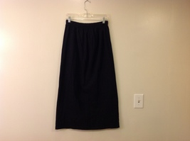Pacific Cotton San Francisco Black Long Skirt 100% Cotton Elastic Waist size L