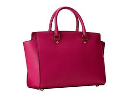 Michael Kors Large Selma Satchel Fuschia - $355.41