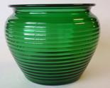 Dark green ribbed glass florist vase2 thumb155 crop