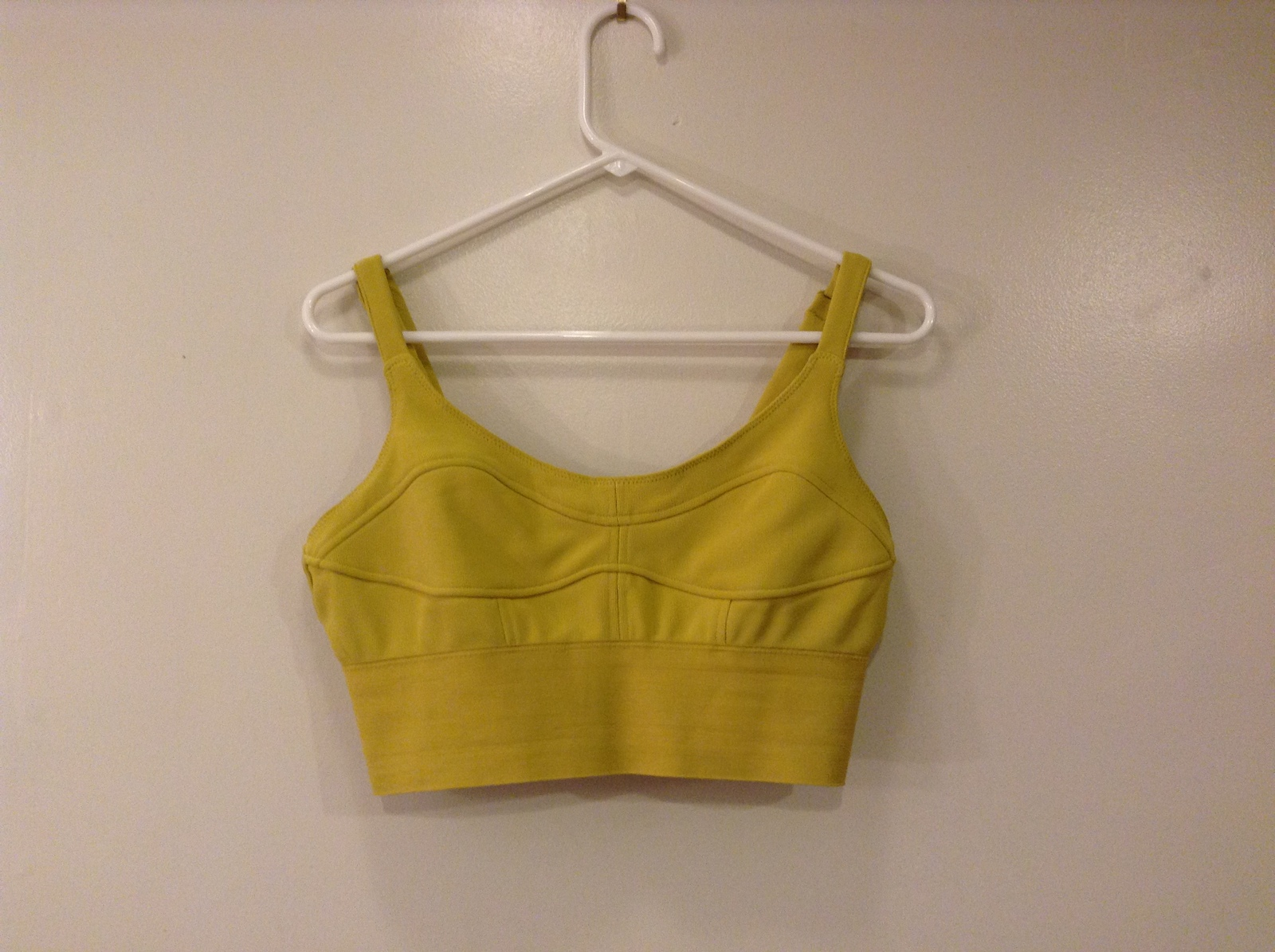 Cotton ON Mustard Yellow Intimates Elastic Bra, size L, Polyester / Spandex
