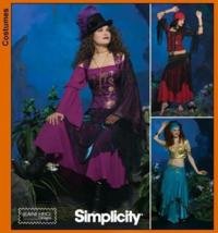 Simplicity 4484 Gypsy, Enchantress, Belly Dancer Costume Pattern 14,16,18, 20 - $8.95