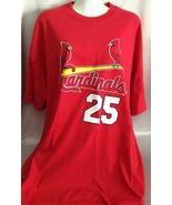 Sport Shirt Cardinals Baseball Red Shortsleeved... - $12.50