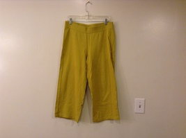 J. Jill Ladies Mustard Yellow Cotton Casual Cropped Capri Sport Pants size PM