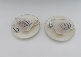 Alliance China Company USA Vintage Regal Pattern 2 Cups Saucers 22 K Gol... - $11.87