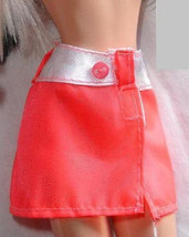 Janay doll clothes salmon pink and white Mini skirt also fits Barbie - $6.99