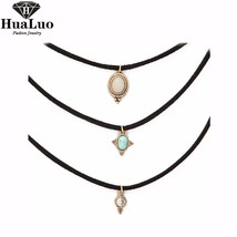 HUALUO 3 Colors All-match Chokers Necklaces Alloy Cute Pendants Necklaces  - $10.99