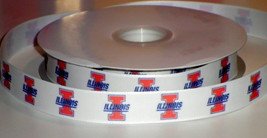 Illinois University Inspired Grosgrain Ribbon - $5.90