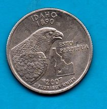 2007 D Idaho State Quarter - Circulated - About XF - $1.25