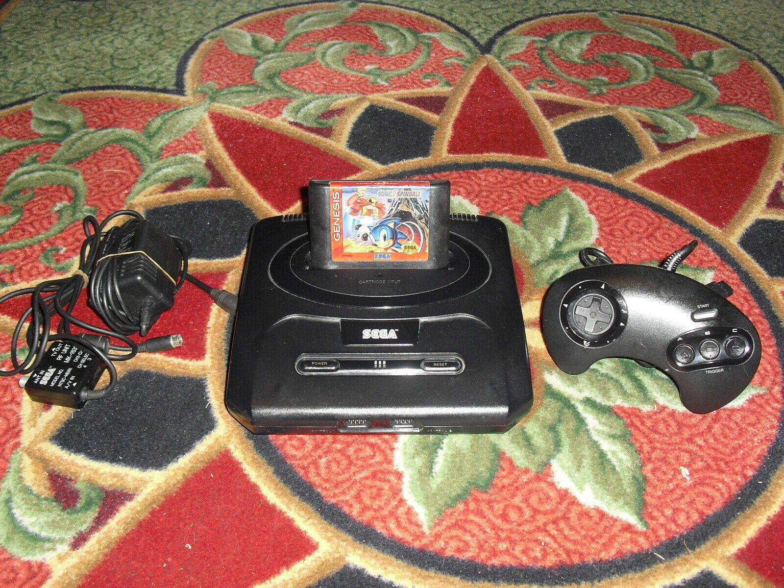 Primary image for Sega Genesis 2 Console (NTSC) SONIC SPINBALL,CONTROLLER AND HOOK UPS