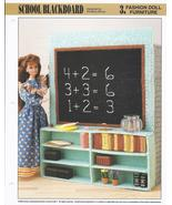 School Blackboard Fashion Doll Furniture Plastic Canvas Pattern~Annie's~... - $3.00