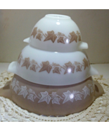 Vintage PYREX Sandalwood Three Cinderella Stack... - $30.00