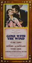 Gone With the Wind Vintage 3 Sheet Movie Poster Lithograph Clark Gable S... - $995.00