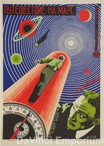 Journey to Mars Vintage Movie Poster Lithograph Hand Pulled Recreation S... - $395.00