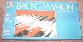 BACKGAMMON & ACEY DEUCY GAME 1982 MILTON BRADLEY #4319 COMPLETE EXCELLENT - $10.00