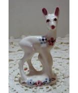 Vintage Hand Painted Floral Deer Figurine // Mid Century Kitsch Home Decor - $12.00