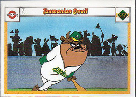 TASMANIAN DEVIL 1990 UPPER DECK LOONEY TUNES # 12 - $0.98