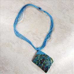 Blue Abalone Shell Necklace Bonanza