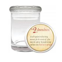 2 Nd Amendment D3 Odorless Air Tight Medical Glass Jar Container Gun Rights Arms - $12.95