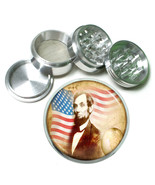Abraham Lincoln Aluminum Grinder D6 63mm 4 Piece American President Abe ... - $9.85