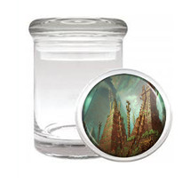 Aztec D9 Odorless Air Tight Medical Glass Jar Container Empire Mexican Art - $12.95