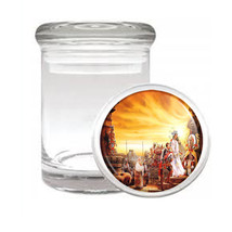 Aztec D4 Odorless Air Tight Medical Glass Jar Container Empire Mexican Art - $12.95