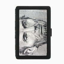 Abraham Lincoln Black Cigarette Case D1 Metal Wallet American President Abe - $5.89