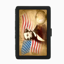 Abraham Lincoln Black Cigarette Case D6 Metal Wallet American President Abe - $5.89