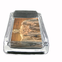 Abraham Lincoln Glass Ashtray D 02 American President Activist Lawyer Approx 4x3 - $9.85
