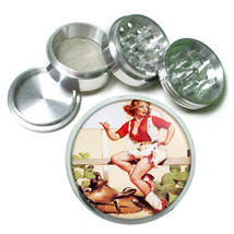Aluminum Herb Tobacco 4pc Grinder Classic Vintage Model Pin Up Girl Design-054 - $12.40