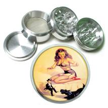 Aluminum Herb Tobacco 4pc Grinder Classic Vintage Model Pin Up Girl Design-052 - $12.40