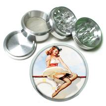 Aluminum Herb Tobacco 4pc Grinder Classic Vintage Model Pin Up Girl Design-066 - $12.40
