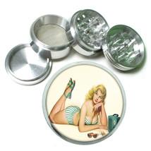 Aluminum Herb Tobacco 4pc Grinder Classic Vintage Model Pin Up Girl Design-057 - $12.40