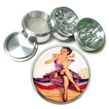 Aluminum Herb Tobacco 4pc Grinder Classic Vintage Model Pin Up Girl Design-051 - $12.40