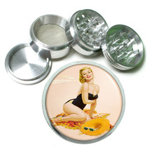 Aluminum Herb Tobacco 4pc Grinder Classic Vintage Model Pin Up Girl Design-088 - $12.40