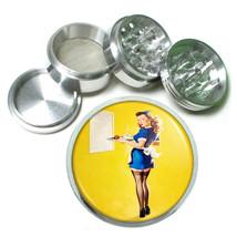 Aluminum Herb Tobacco 4pc Grinder Classic Vintage Model Pin Up Girl Design-082 - $12.40