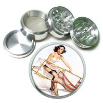 Aluminum Herb Tobacco 4pc Grinder Classic Vintage Model Pin Up Girl Design-098 - $12.40