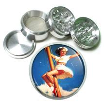 Aluminum Herb Tobacco 4pc Grinder Classic Vintage Model Pin Up Girl Design-095 - $12.40