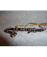 "BLACK BASS CLARINET ORNAMENT MUSICAL INSTRUMENT ORNAMENT 3.5"" NEW - $13.81"
