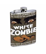 Bela Lugosi, White Zombie 1932 D243 Flask 8oz Stainless Steel with Zombi... - $9.85