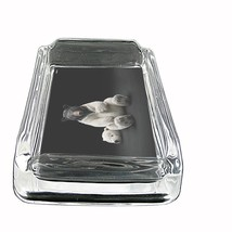 """Black Bear Glass Ashtray D8 4""""x3"""" Nature, wild, forest, grizzly - $9.85"""