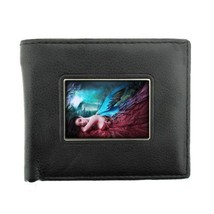 Black Bifold Leather Material Wallet Fairies Design 07 Celtic Mystical C... - $8.86